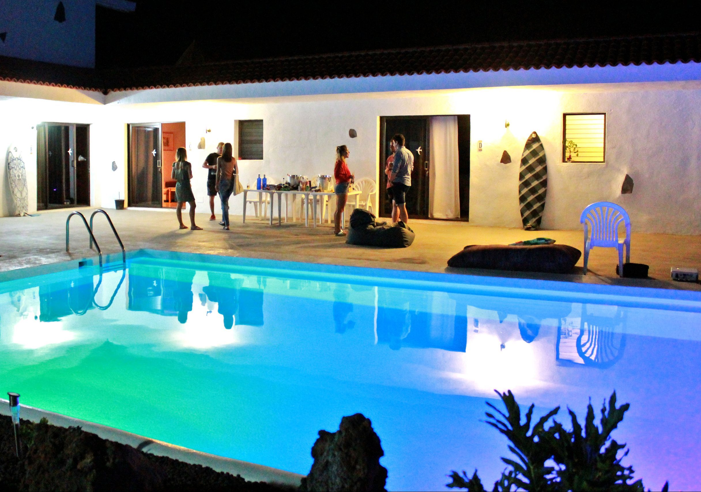 pool party villa tenerife coworking adventure nomads camp
