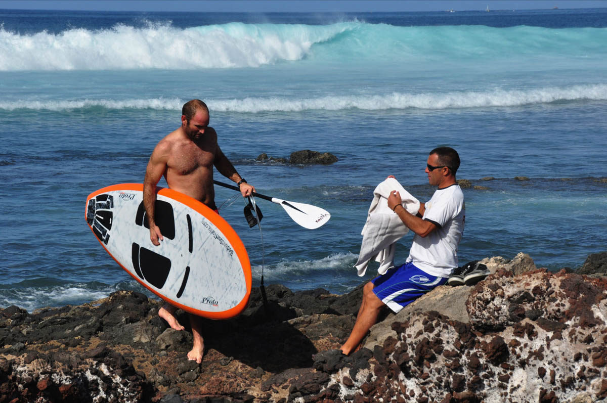 SUP lessons tenerife coworking Action Academy camp